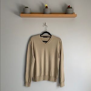 Zara. 100% Cotton V Neck Sweater.